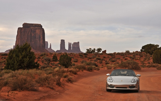 Porsche In Navajo Land